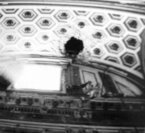 Bombardamento di Caserta, 27 agosto 1943 - Danni alla Cappella Palatina nella Reggia di Caserta