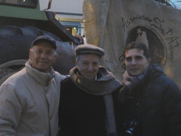 Da destra Vincenzo Capuano, Roberto De Simone e Giacomino Di Dio detto puca d'oro (Montemarano, 13/02/2011).